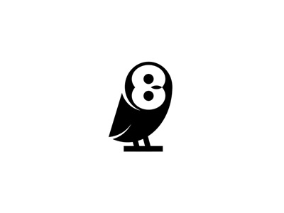 Owl-eight rotation eight owl digits 8 points 2012 revolution loop fighter bird vertical