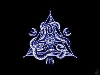 Pariyesati illustration sacrament symbolism triangular snake lotus esotericism esoteric