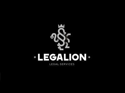 Legalion mark logo lion paragraph legal