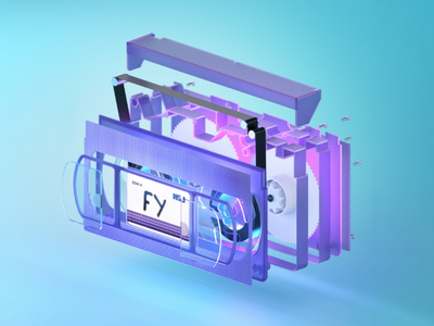 RETRO VHS 3d cinema4d isometric 3d model