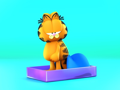 Garfield Cat fan art fanart dibujodigital dibujo draw illustration illustrator 3d cartoon network cartoon character cartoon cat not monday monday garfield