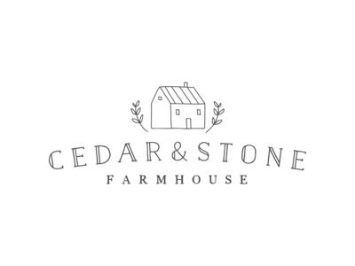 Logo Design: Cedar And Stone Farmhouse