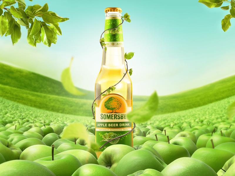 Somersby retouch manipulation artwork retouching photography somersby art direction