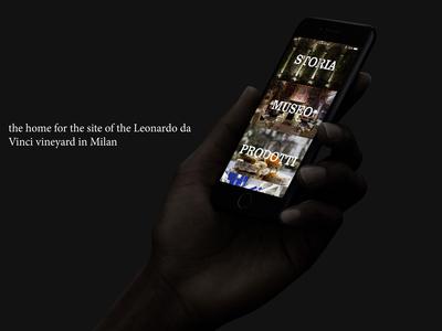 Design, illustration, UI/UX of Leonardo Vineyard's site in Milan
