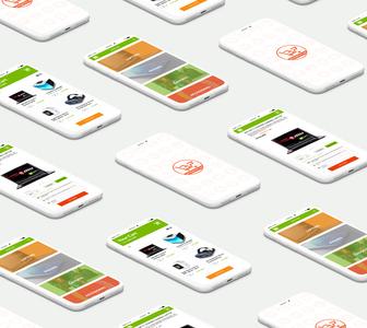 Mobile App UI for an e-commerce store