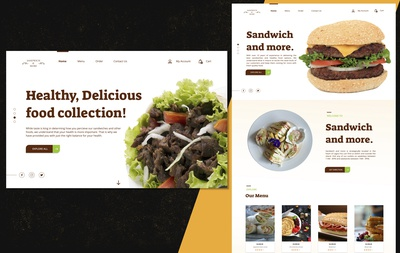 Landing Page Design for a Sandwich Bar