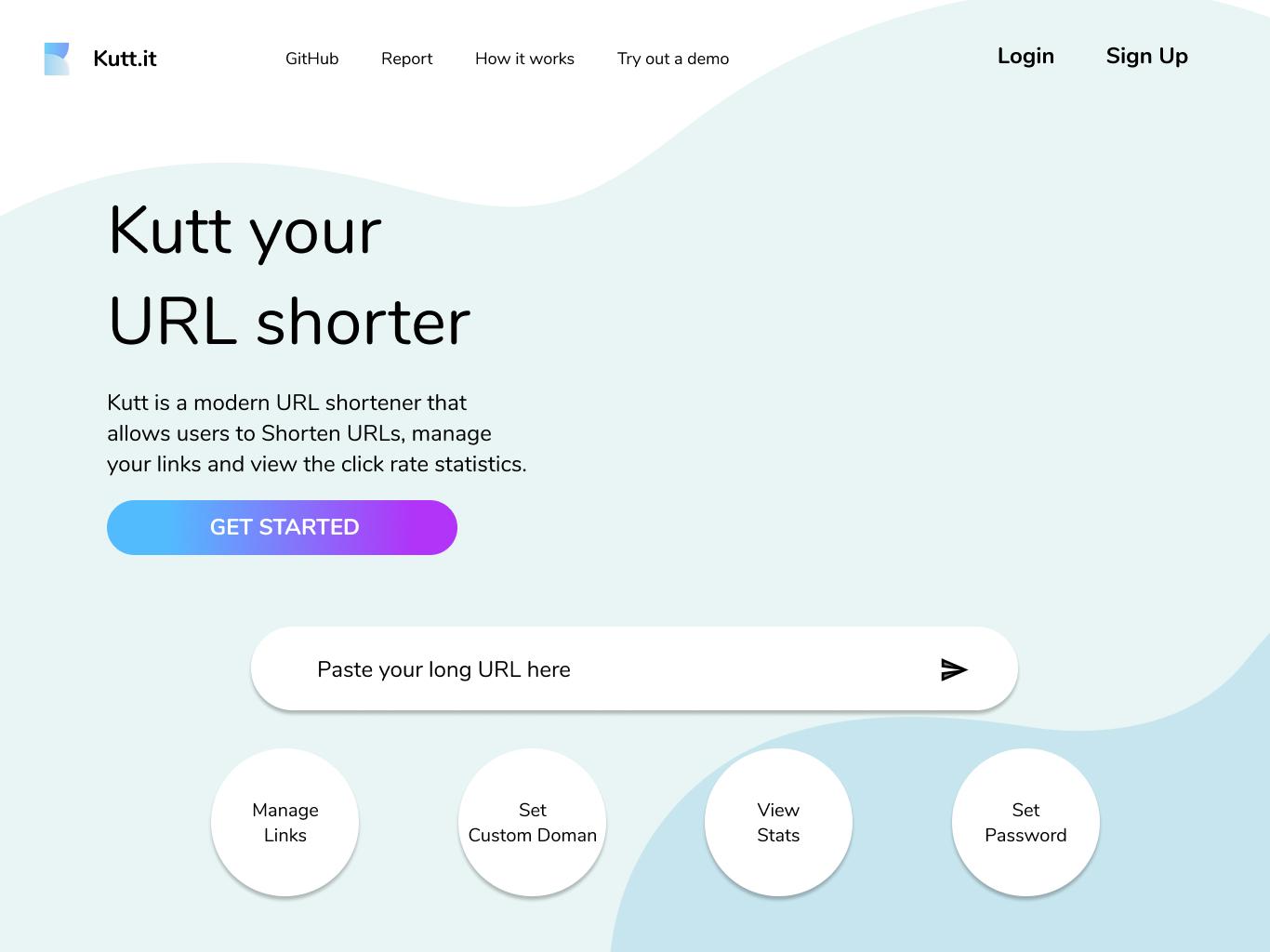 Landing Page Re-design of Kutt.it minimal flat website web identity branding corporate design ux vector corporate identity branding icon design app ui