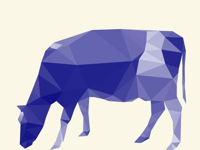 Another geometric cow