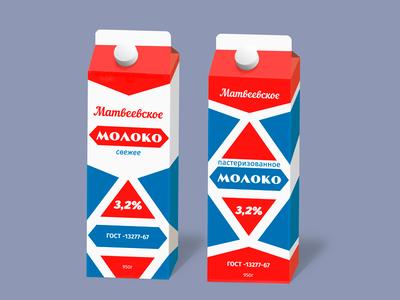 Variations of the milk packaging
