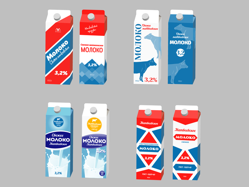 More Variations of the milk packaging packagedesign package packaging design packaging milk dairyproducts graphic design design