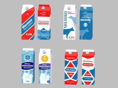 More Variations of the milk packaging