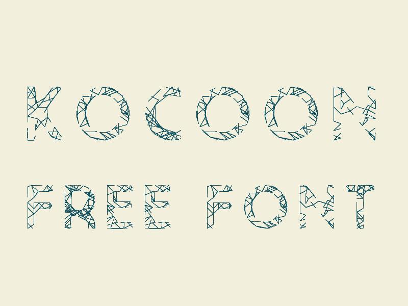 Kocoon Light Free Font freebie free font randomic nodebox typography uppercase light