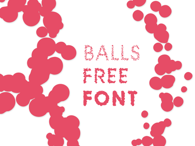 Balls Family Free Font free font type balls nodebox generative typography freebie