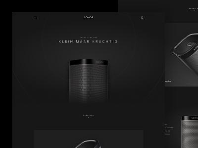 Sonos Play One ui dark clean black music sonos sound