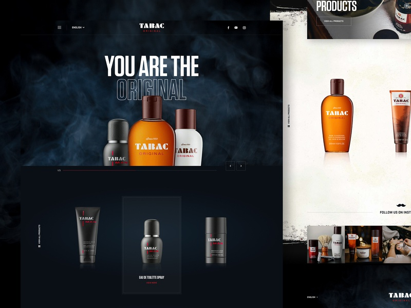 Tabac Redesign concept redesign modern fresh shaving tabac rough uidesign clean smell barber beard men authentic