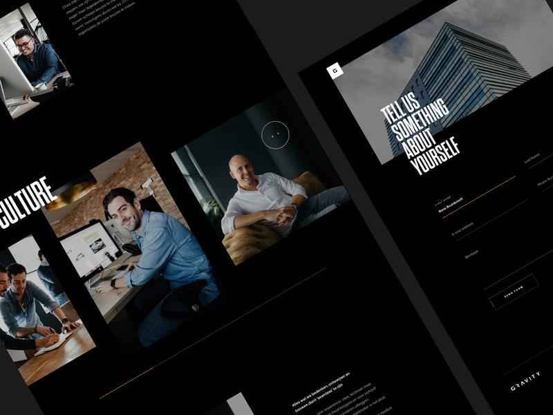 Preview Gravity 2019 dark ui design modern fresh gravity uidesign space clean dark new website agency studio