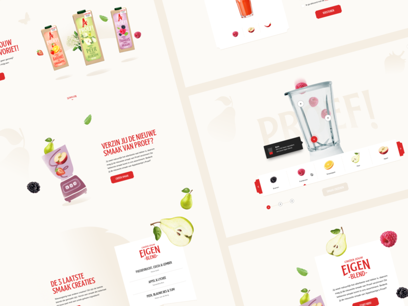 Appelsientje Proef! flavours your own juice ui design smoothie create supermarket clean fresh appelsientje blender juice bar juice fruit mix blending
