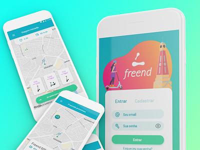 Freend scooter app ui design ux