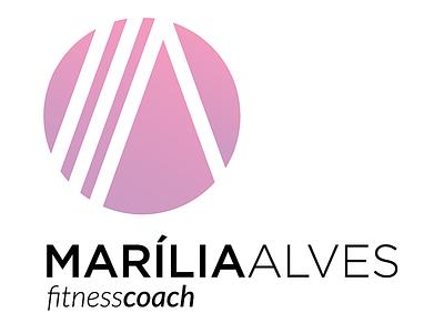 Marília Alves - Fitness Coach vector design branding logo