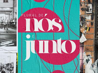 plural de nós é junto illustration typography design poster design poster