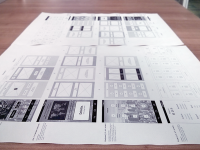 Secret On The Table axure wireframe paper print ux