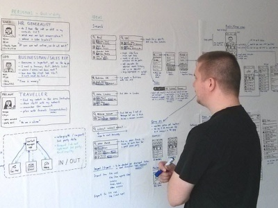 Contact Manager app - demo project ux design flowchart process paper prototype sketch