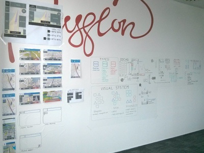 The Wall ux visualization wall sketch brainstorming