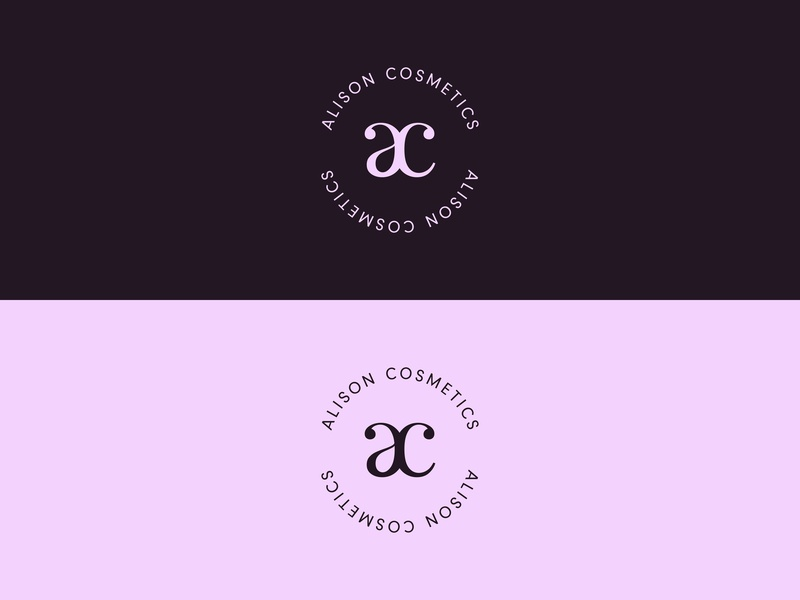 Alison Cosmetics makeup typography logodesign monogram natural vegan cosmetics logocore 30 day challenge logo challenge logo design branding adobe illustrator adobe vector graphic design