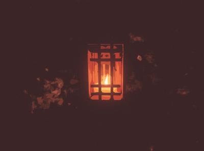 lantern. poster art minimal illustration design