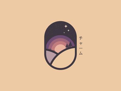 Charm vector minimal illustration design