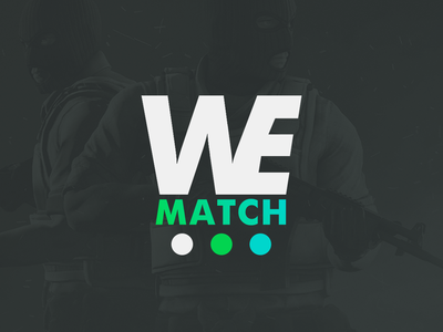 We Match typography logo branding minimal design