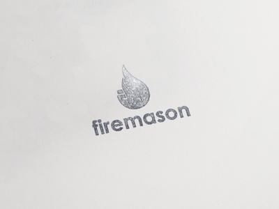 Firemason logo branding illustration design