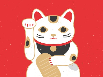 Maneki-Neko 招き猫 japanese cat japan illustration japanese illustration manekineko maneki-neko 招き猫