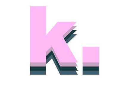 k. illustration colorful color bright vector type design type art type design