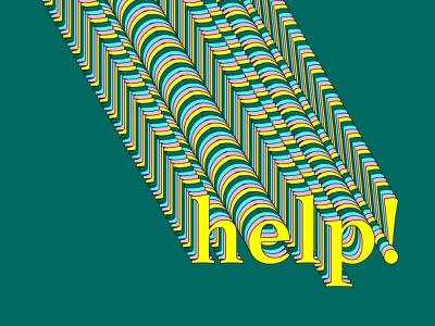 help! typography colorful color bright vector type design type art type design