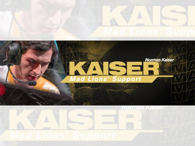 MAD Kaiser mad lions esports mad mad lions lec2020 lec league of legends lol graphic design graphic esports social media social media esports social esports logo esports design esports banner esports design dailyposterdesign dailyposter