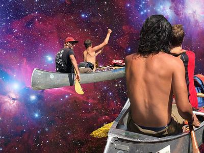 Galaxy Canoeing pt.1 design galaxy photoshop space canoeing adobe ilustrator illustration graphic deisgn