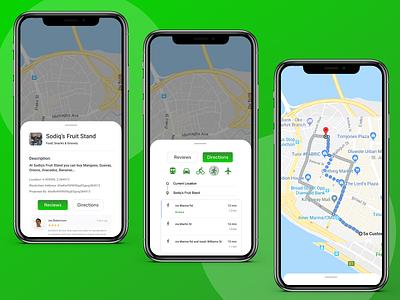 Poket map feature redesign ux app design prototype figma ui design