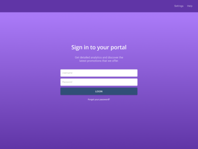Portal login for an imaginary company