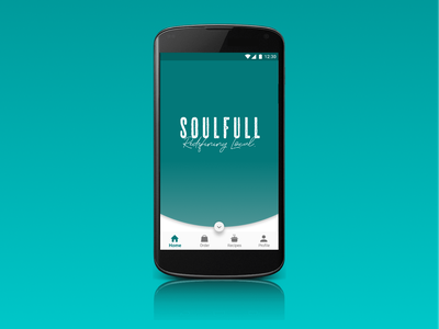 Landing screen for Soulfull app prototype landing page app screen app design sketch branding ux figma ui