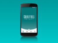 Landing screen for Soulfull app