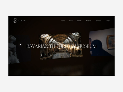 Luxam Gallery template promo fashion ukraine concept portfolio animation ui design web
