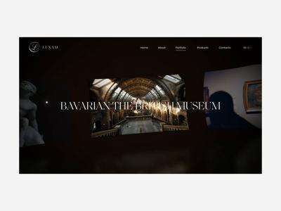 Luxam Gallery template promo fashion ukraine concept portfolio animation ui design web