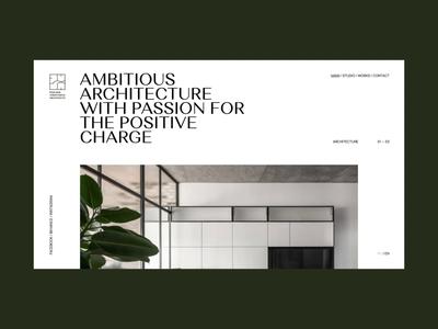 PV'Architect interface fashion promo ukraine concept portfolio animation ui design web