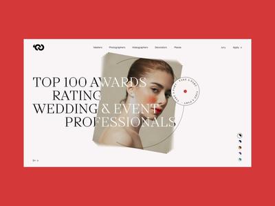 TOP100AWARDS' WEDDING & PHOTOGRAPHERS landing fashion promo concept ukraine portfolio animation ui design web