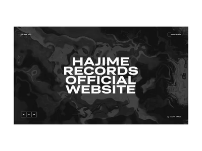 Hajime Records portfolio ux slider promo concept ukraine animation ui design web