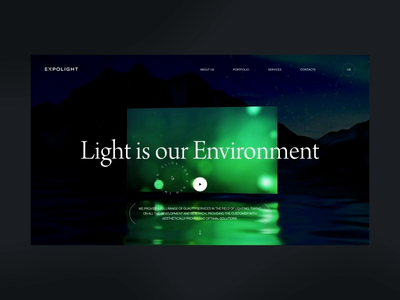 Expolight 1st Concept portfolio ux ukraine slider promo concept animation ui design web