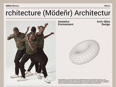 Bälbėk Architecture Büreau portfolio landing fashion promo ukraine concept animation ui design web