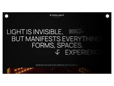 Expolight fashion slider ukraine promo concept portfolio animation ui design web
