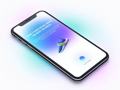 FF App illustration morphing blue diet sport colorfull app landing design concept template web